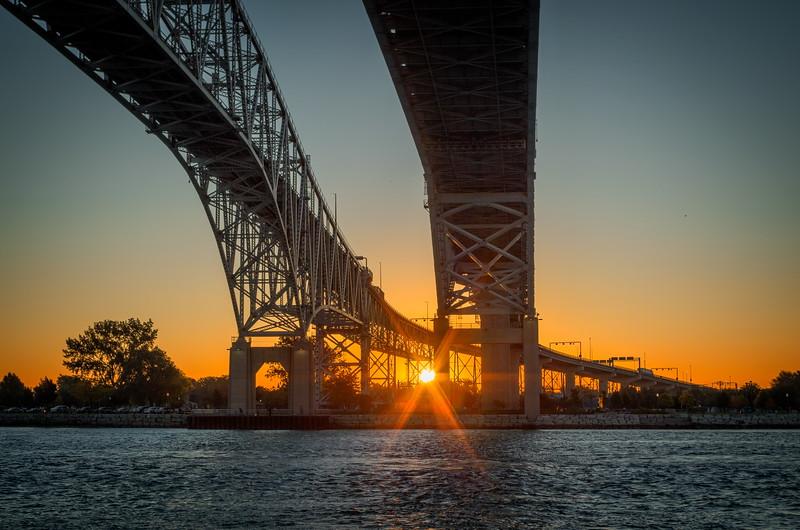 Sunrise at the Blue Water Bridge