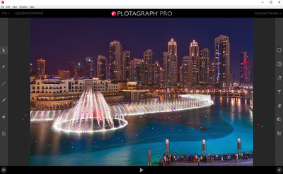 dubai fountain plotagraph pro screenshot