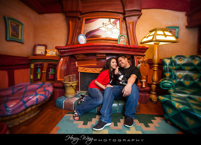 Disneyland-California-Adventure-Cute-Romantic-Engagement-Portrait-Session-Picture