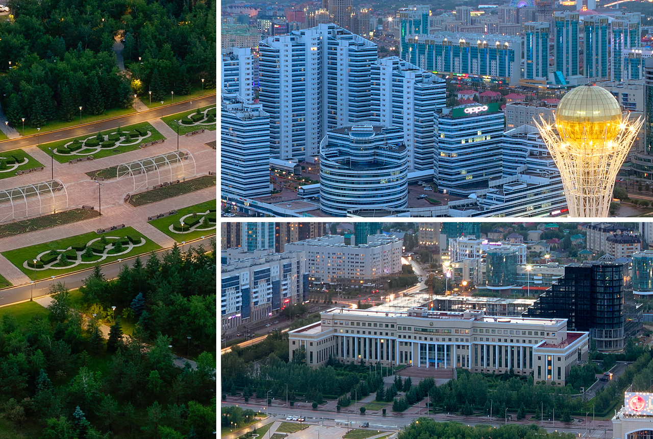 Astana city center panorama, Kazakhstan, detail