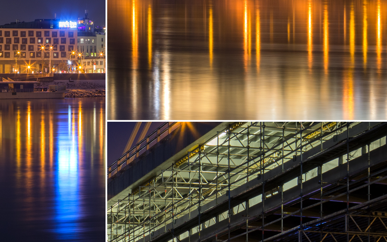 Under the SNP bridge, Bratislava, Slovakia