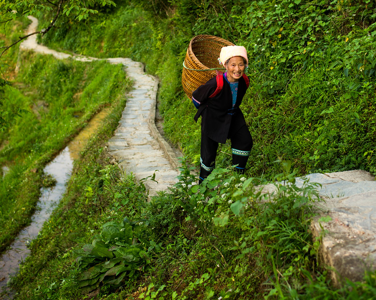 Climbing the Longji Rice Terraces (Guangxi, China 2016)