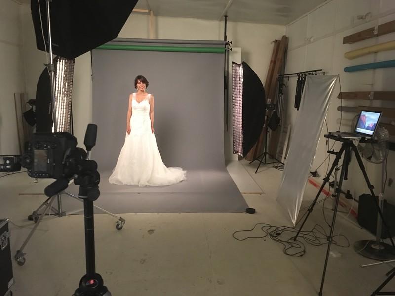 Vestidos de novia en estudio