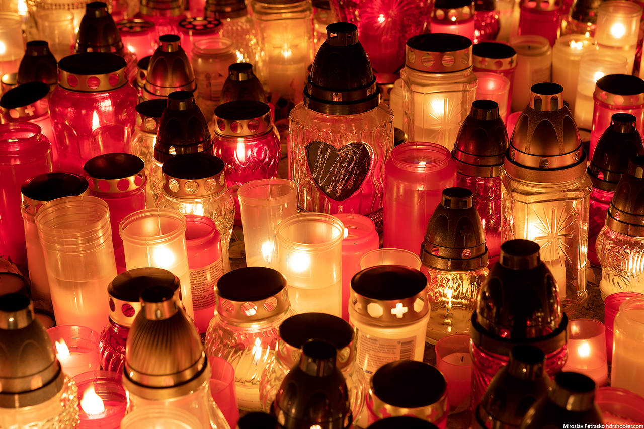 Candle light All Saint's day