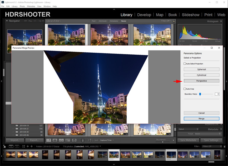 Panoramas in Lightroom