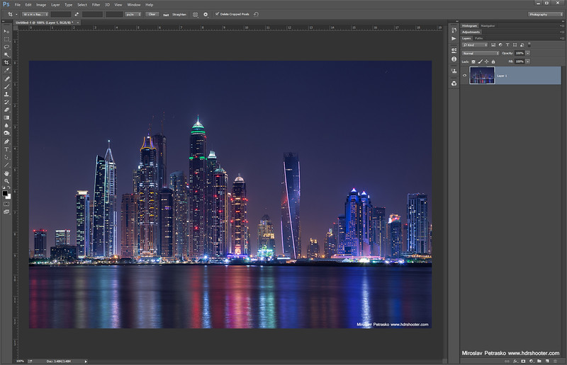 Creating a cityscape reflection