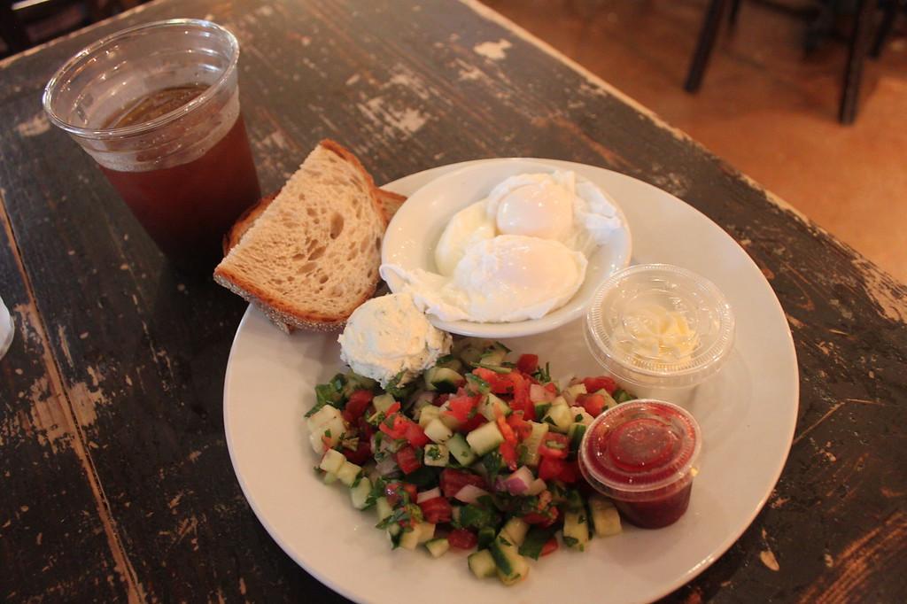 Israeli breakfast at Alon's