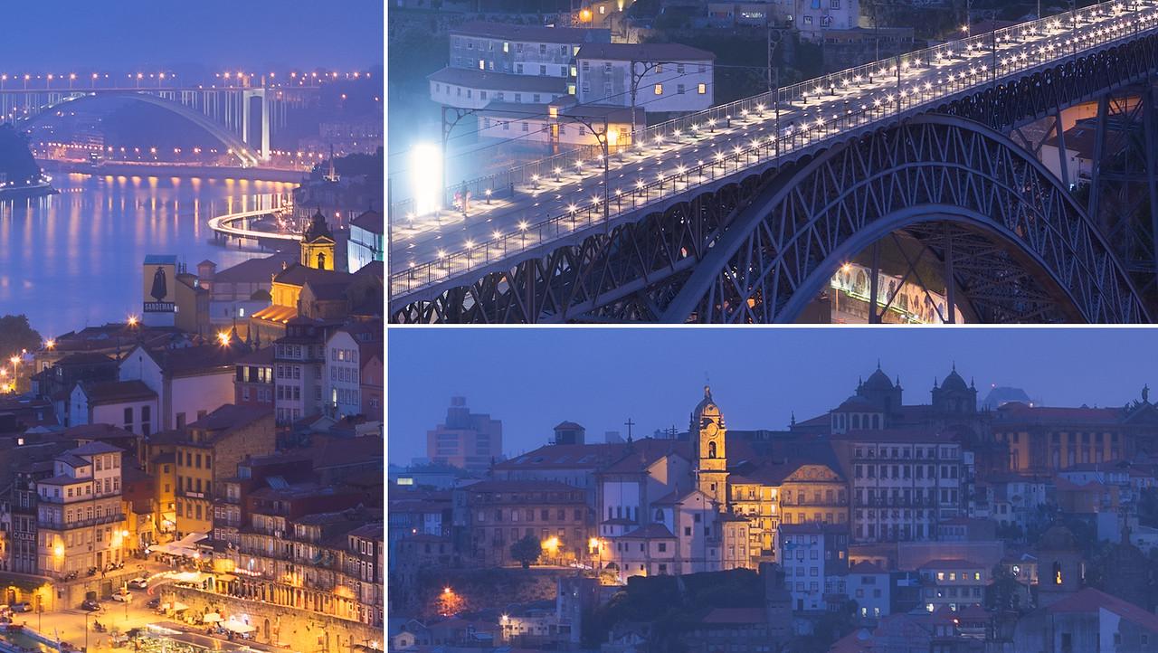 Over the Dom Luis I Bridge, Porto, Portugal