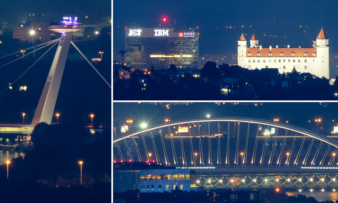 All the bridges in Bratislava
