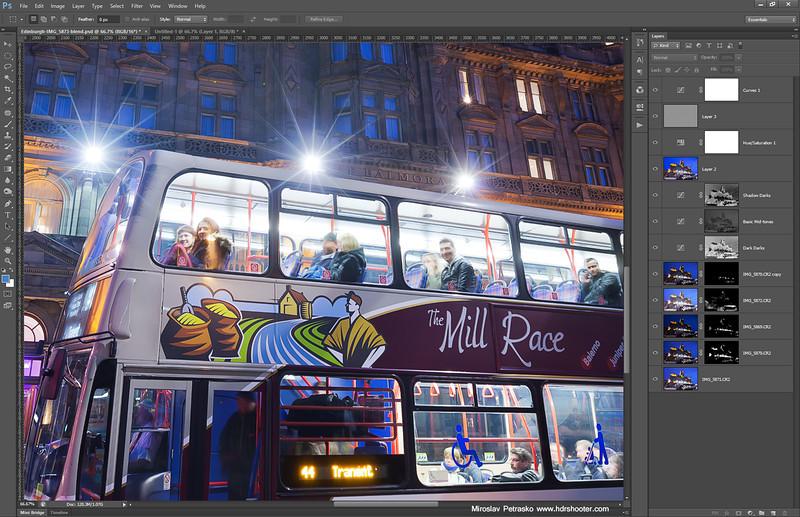 The bus in Edinburgh