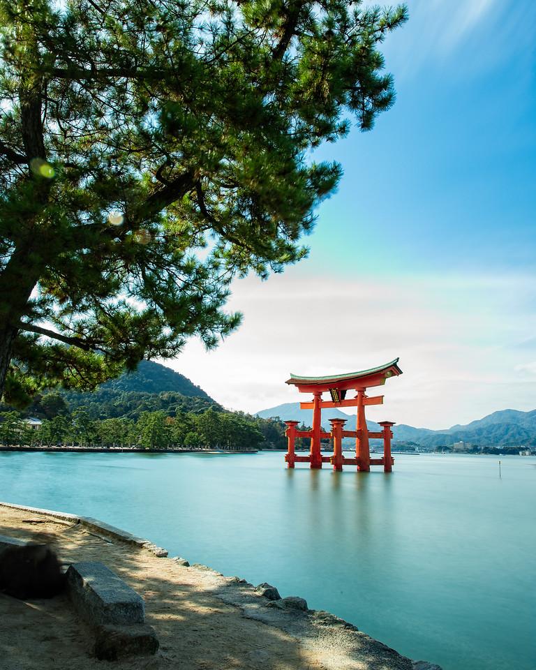 The sacred Itsukushima Shinto Shrine Torii (Miyajima, Japan 2015)