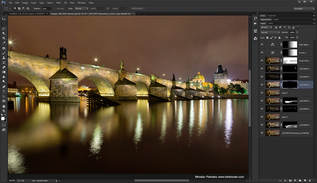 Late night at the Charles bridge