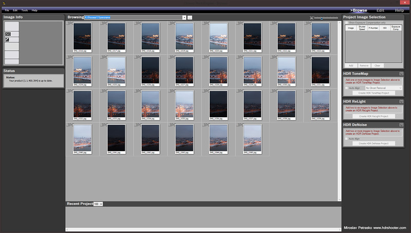 Batch process in Photoengine
