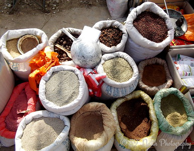 Spices for sale in Sha Ping, Yunnan Province, China by Karen B.
