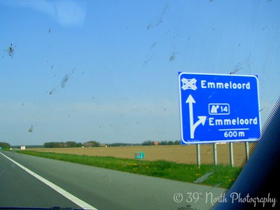 To Emmeloord (through buggy windshield) by Norma H.