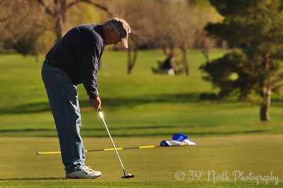 Golfer on the Green by Laurie H.