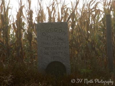 Marker in Nebraska cornfield by Betty S.