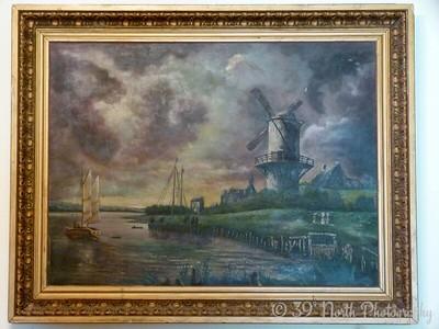 Oil painting (De Molen bij Wijck bij Duurstede) by Norma H.