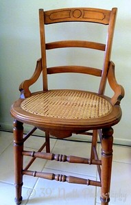 My mom's old chair by Norma H.