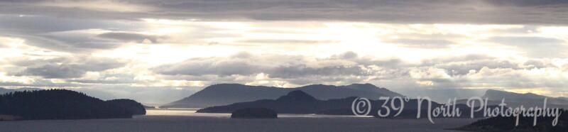 Ocean sunset, Orcas Island by Karen B.