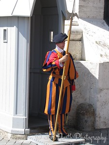 Pontifical Swiss Guard of Vatican CIty by Dave T.