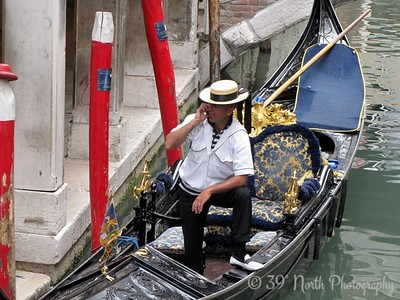Phoning Gondolier by Dave T.