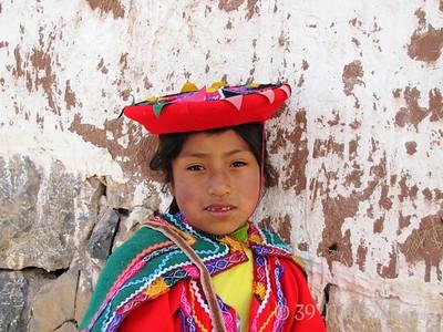 Peruvian Girl at Chinchero, Peru by Dave T.