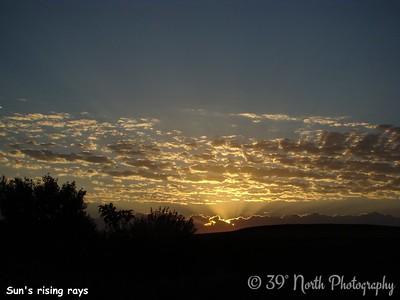 Sun's rising rays by Sandi