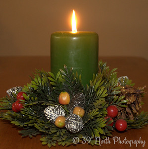 Christmas Candle by Laurie H.