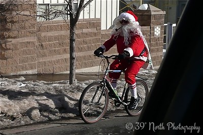 Santa Going Home by Linda F.