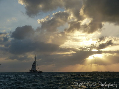 Sailboat and Sunset, Key West, FL by Beth B.