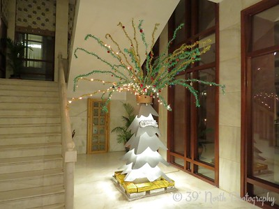 Crazy Christmas tree at a hotel in Agra by Dave T.