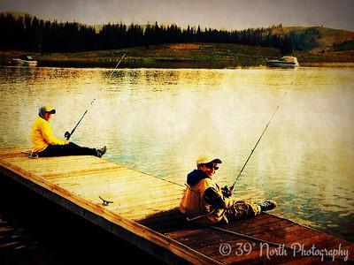 Fishin' at Lake Granby by Yami A.