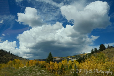 Clouds Over Autumn Colors by Laurie H.