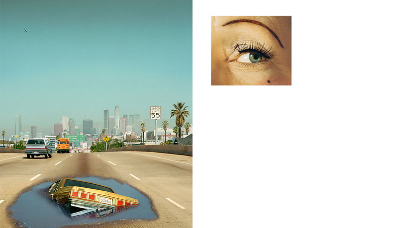 Prager, A 2012, Compulsion, 2 PM, INTERSTATE 110 AND EYE #6 (SINKHOLE) (DIPTYCH)