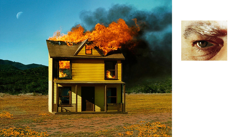 Prager, A 2012, Compulsion, 4:01 PM, SUN VALLEY. AND EYE #3 (HOUSE FIRE) (DIPTYCH), 2012