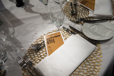 WINQ Autumn Awards | Event Fotografie Amsterdam W Hotel Diner Menu