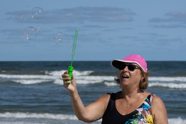 2020-Week 38 - Jersey Girl Blowing Bubbles on the Jersey Beach
