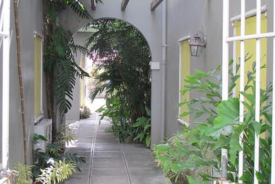 Garden archway in the town.