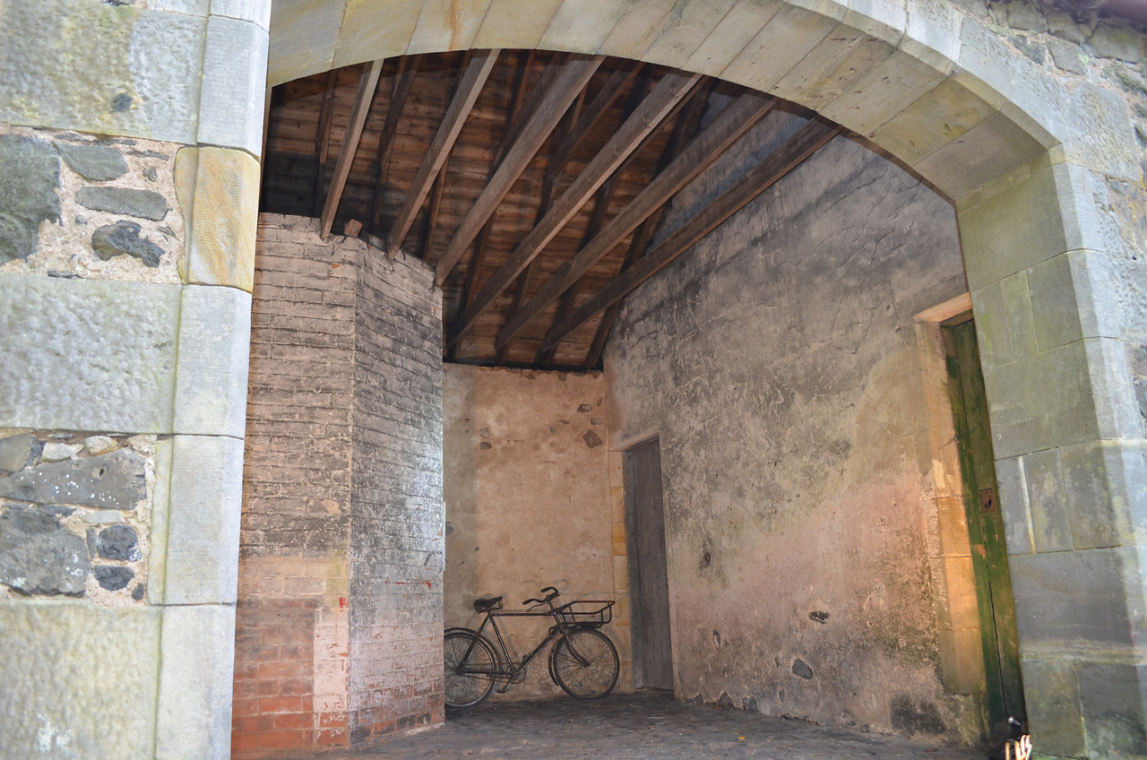 The two doors on the right lead into the byre and through to the barn.