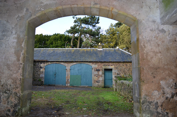 North facing doorway into the stable yard.