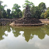 Neak Peak is a temple in the middle of a pond.