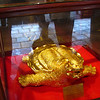 'Why, it's a gold-plated turtle statue!'  Weird.