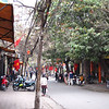 Typical street in Hanoi--although this one is surprisingly free of motorcycle traffic.