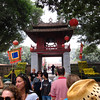 Crowds at the Temple of Literature, Vietnam's first national university. Built in 1070.