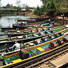 Boats at Shwe In-Dein Monastery