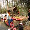 We prepare to kayak