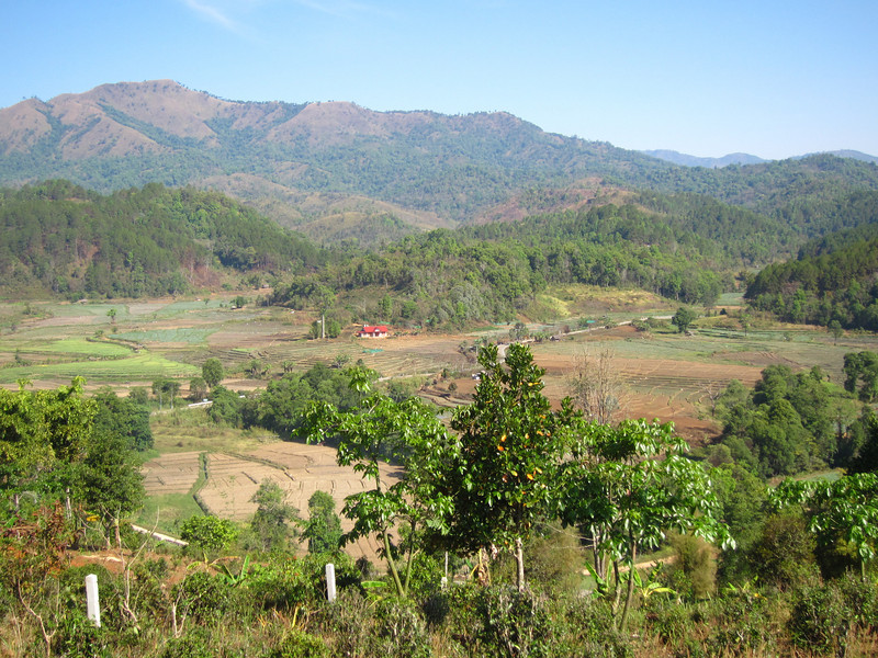 Burma is on the other side of those hills