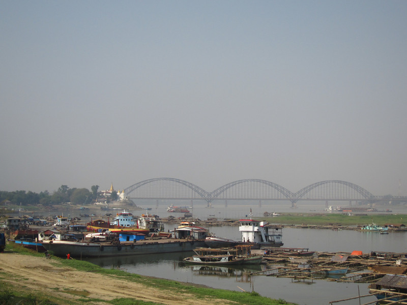 The Yadanabon Bridge over the Irrawaddy