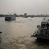 Ferries at a busy crossing on the Mekong.